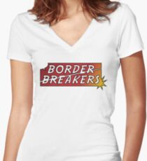 Border Breakers logo - Color Women's Fitted V-Neck T-Shirt