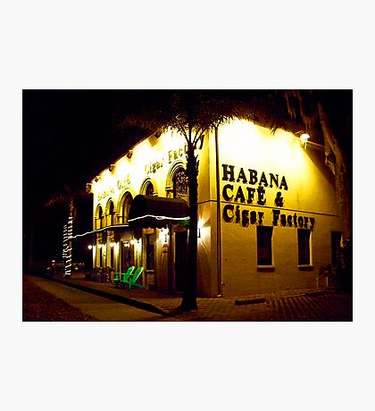 Habana Cafe & Cigar Factory Photographic Print