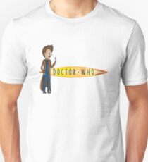 10th Doctor and his Logo Unisex T-Shirt