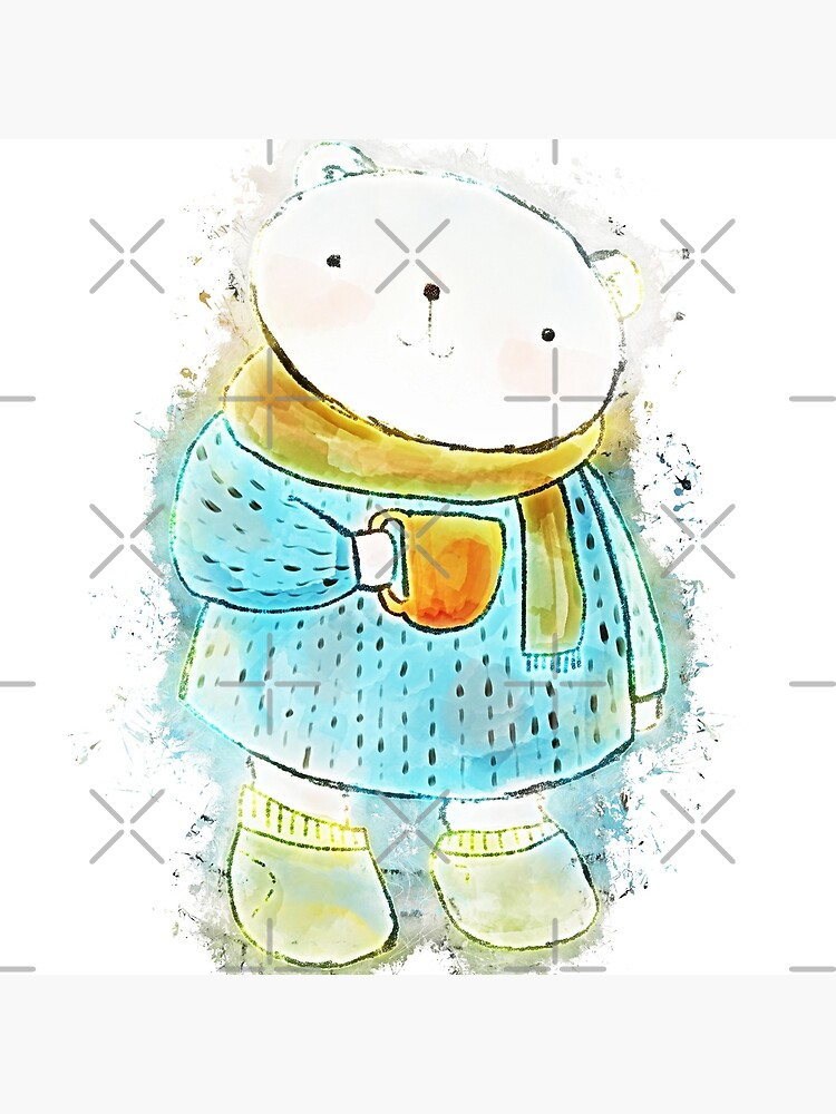 Polar bear cute bear glowing Art de VincentW91