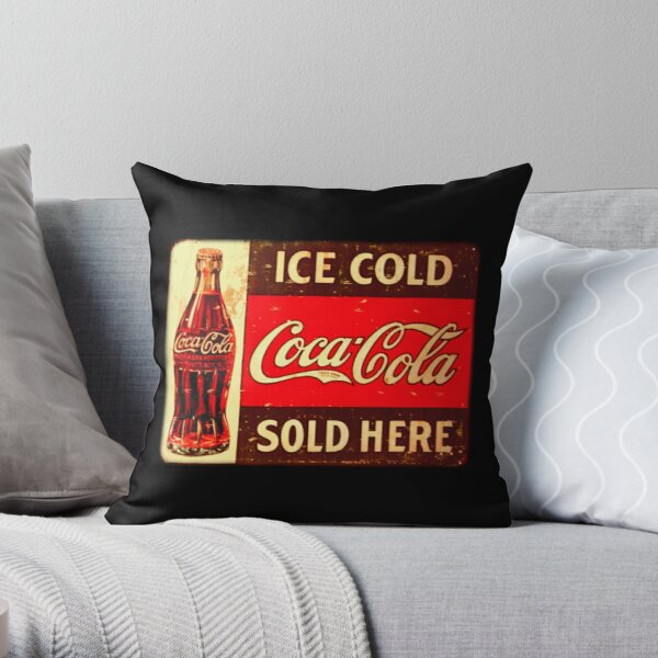 Cocacola Vintage Throw Pillow
