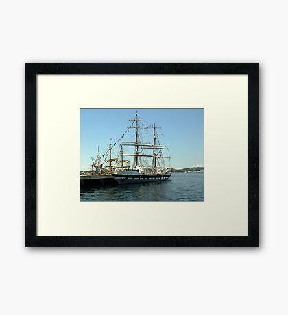 Prince William at dockside Framed Print