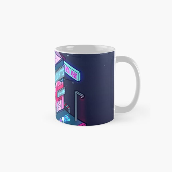 Cyberpunk Peach Drink Classic Mug