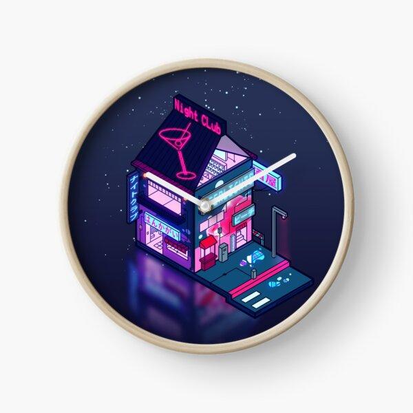 Cyberpunk Peach Drink Clock