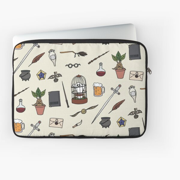 Owl and wand Laptop Sleeve