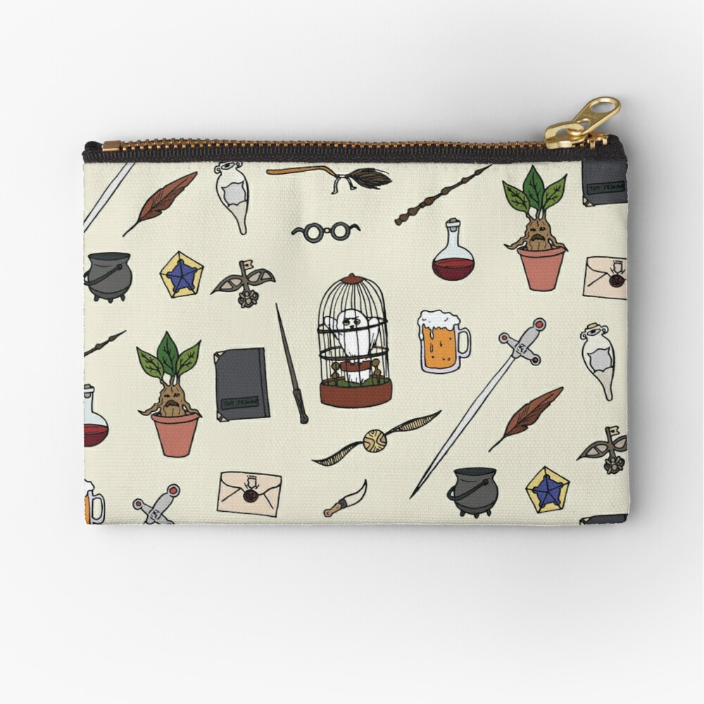 Owl and wand Zipper Pouch
