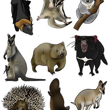 Aussie Animals by Kel2
