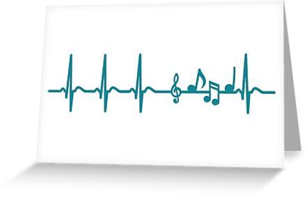 Heartbeat Music T-Shirt - Cool Funny Nerdy Comic Graphic Heartbeat Music  Music Notes Musician Rock Band Singer Sayings Sayings Quote Shirt Gift Gift  Idea 207d104a228b3