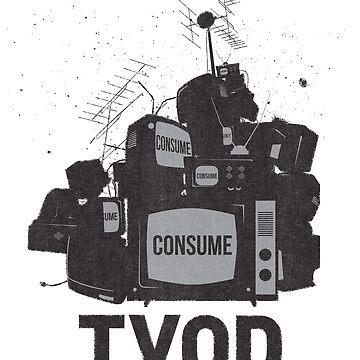 TVOD, Television Overdose, Retro Punk Graffiti Art Style by gorillamerch