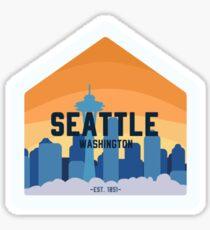 Seattle Skyline Badge Sticker