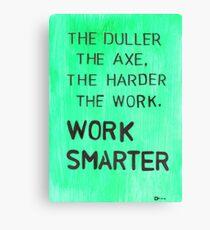 Worker smarter Canvas Print