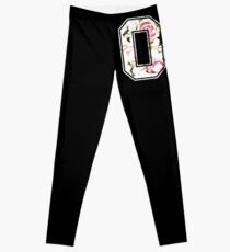 8th birthday tricot 08 roses pattern graphic b-day 8 Leggings