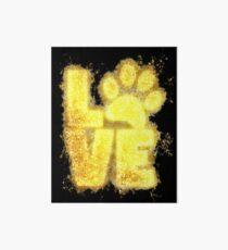 Paw print paws glowing Art Art Board