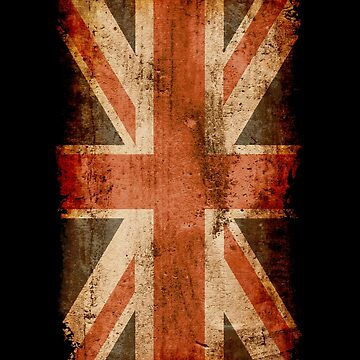 Distressed Union Jack, UK Flag, Great Britain by gorillamerch
