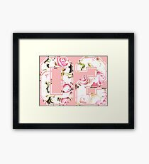 2nd b-day gift roses number 02 2 birthday pink Framed Print