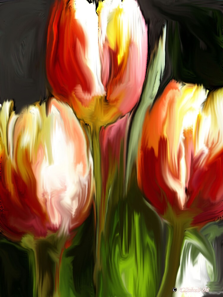 Red & Yellow Tulips by Charmain Schuh