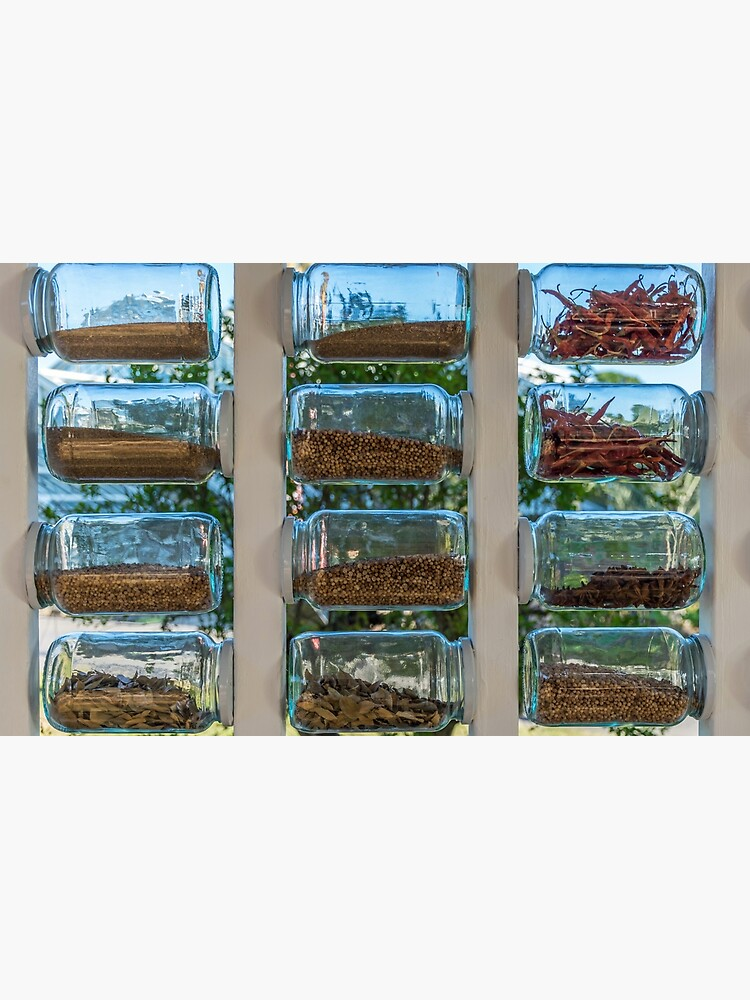 Glass spice jars display by tdphotogifts