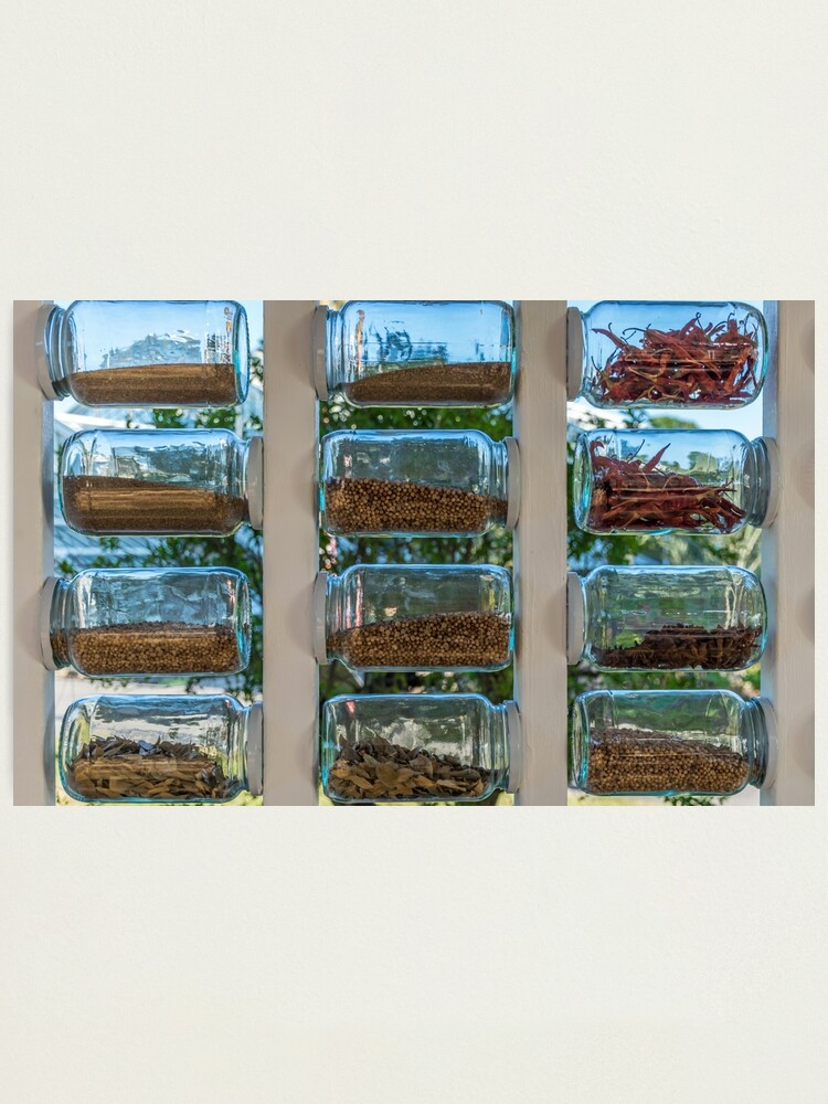 Alternate view of Glass spice jars display Photographic Print