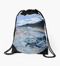 sky trails Drawstring Bag