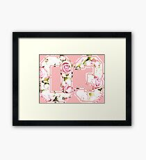 3rd b-day gift roses number 03 3 birthday pink Framed Print