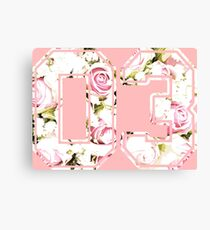 3rd b-day gift roses number 03 3 birthday pink Canvas Print