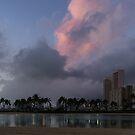 Big Sky Hawaii - Duke Kahanamoku Lagoon at Dusk  by Georgia Mizuleva