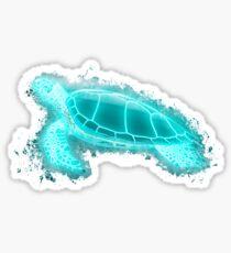 Pegatina Sea turtle turtle glowing Art