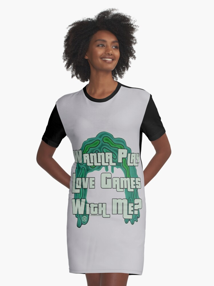 Mighty Boosh by Eye Voodoo - Old Gregg Love Games mk1 Graphic T-Shirt Dress Front