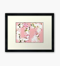 7th b-day gift roses number 07 7 birthday pink Framed Print