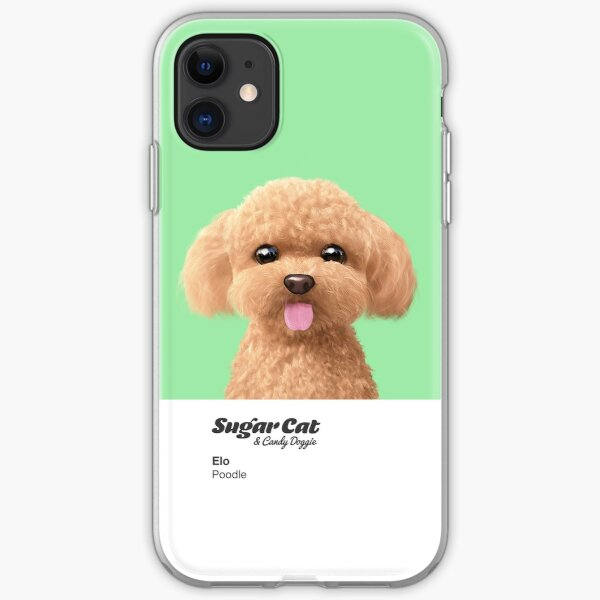 Elo the Poodle iPhone Soft Case