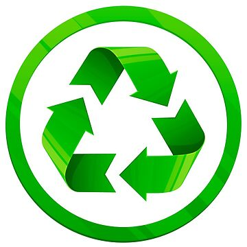 Reduce Reuse Recycle symbol for conservation by headpossum