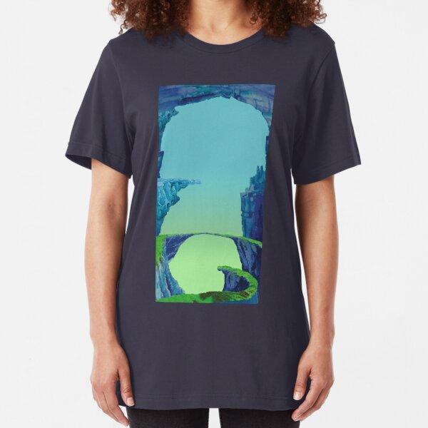 Blue Cavern - ohms' Custom Worms Armageddon Level Slim Fit T-Shirt
