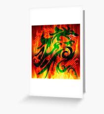 DRAGON IN FLAME Greeting Card