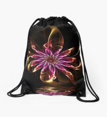 Flower Ribbon Drawstring Bag