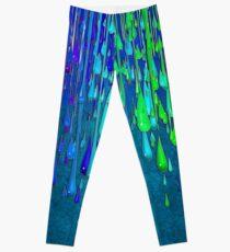 Dripping Paint Rainbow Colors Leggings