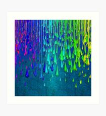 Dripping Paint Rainbow Colors Art Print