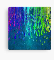 Dripping Paint Rainbow Colors Canvas Print