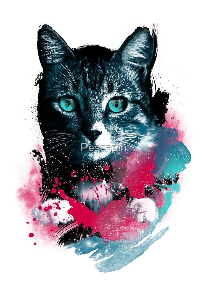 Galaxy Katze von Pescapin