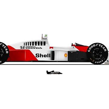 Formula 1 - Ayrton Senna - McLaren MP4/4 by JageOwen
