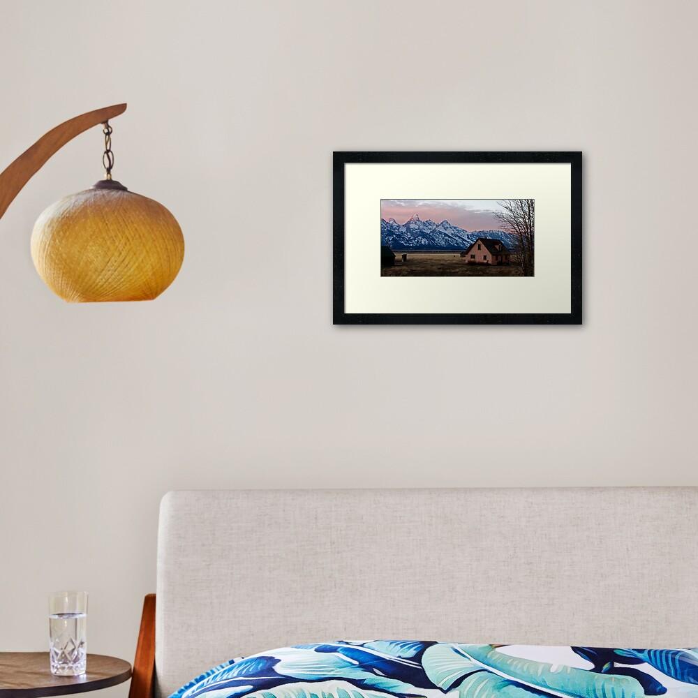 Peach House, Mormon Row, Tetons Framed Art Print