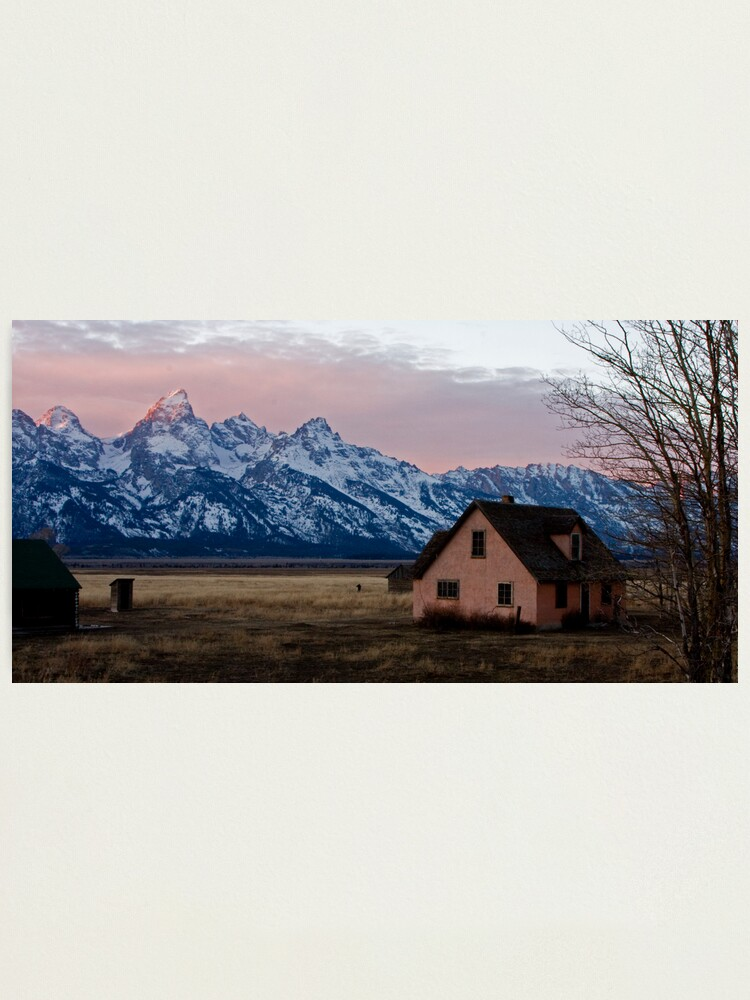 Alternate view of Peach House, Mormon Row, Tetons Photographic Print