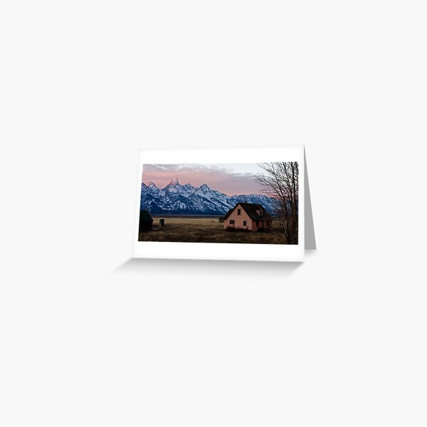Peach House, Mormon Row, Tetons Greeting Card