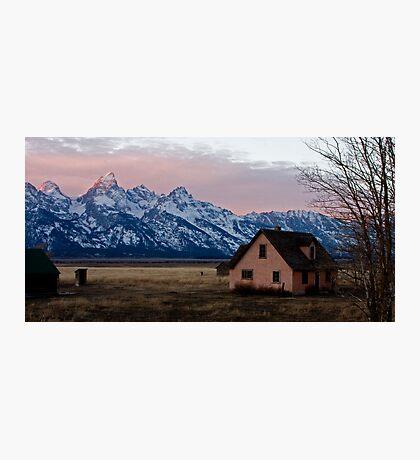 Peach House, Mormon Row, Tetons Photographic Print