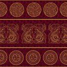 Golden Ethno Batik Pattern by Eligo-Design