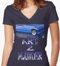 Classics 5-Blue Women's Fitted V-Neck T-Shirt