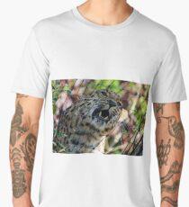 A Leopard behind the fence. Men's Premium T-Shirt
