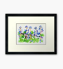 Colorful Weed Framed Print