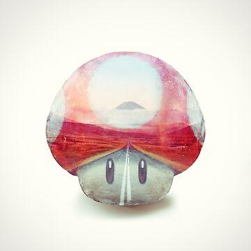 Super Shroom - Kart Art by andywynn