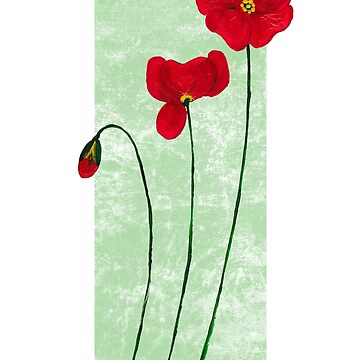 3 Poppies with green strip by RycoTokyo81