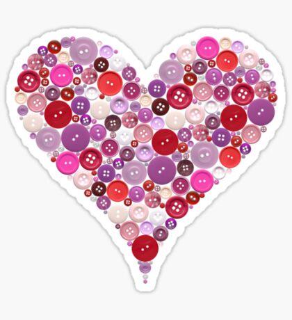 Heart buttons t-shirt Sticker